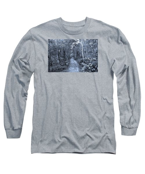 Path Trough The Blue Wood Long Sleeve T-Shirt