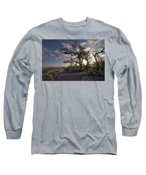 Pathway On Top Of Enchanted Rock Long Sleeve T-Shirt
