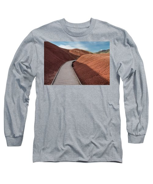 Pathway Through The Reds Long Sleeve T-Shirt by Greg Nyquist