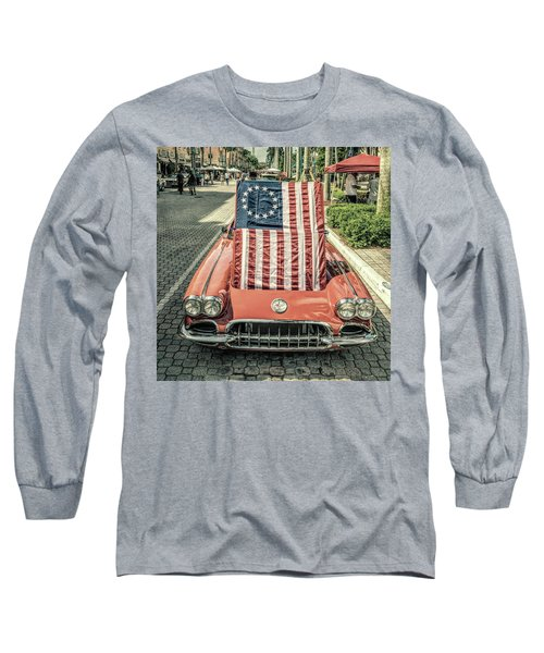 Patriotic Vette Long Sleeve T-Shirt