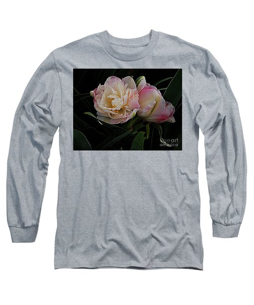 Long Sleeve T-Shirt featuring the photograph Pe0ny Tulip Duet 2 by Nancy Kane Chapman
