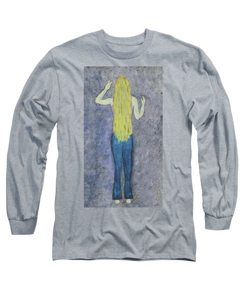 Long Sleeve T-Shirt featuring the mixed media Peace by Desiree Paquette