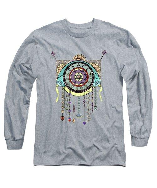 Peace Kite Dangle Illustration Art Long Sleeve T-Shirt
