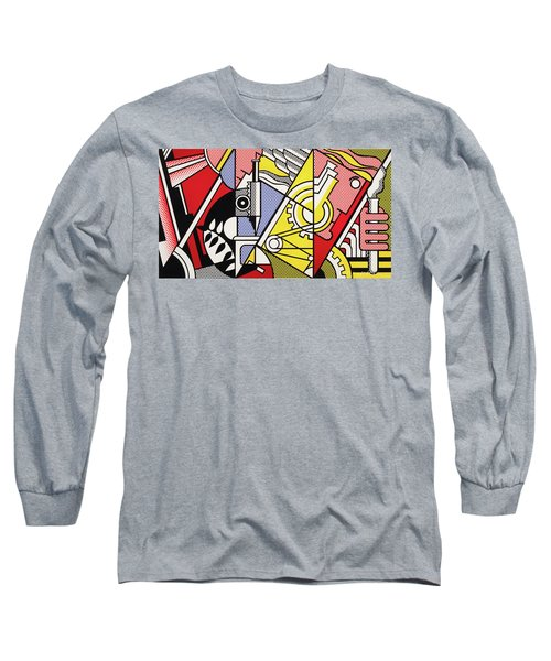 Peace Through Chemistry I - Roy Lichtenstein Long Sleeve T-Shirt
