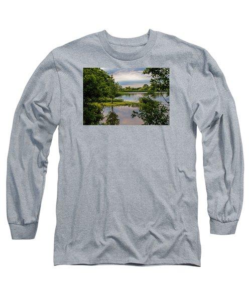 Peaceful Evening Long Sleeve T-Shirt by Alana Thrower