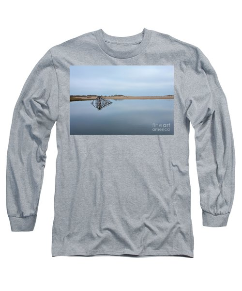 Long Sleeve T-Shirt featuring the photograph Peaceful Tidepool On The Outer Banks by Dan Carmichael