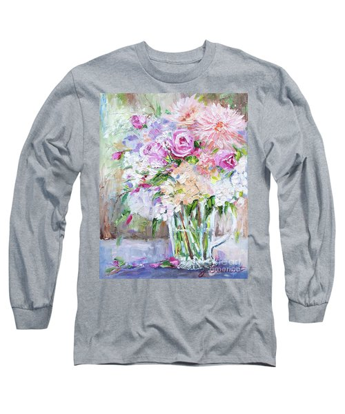 Peach And Pink Bouquet Long Sleeve T-Shirt