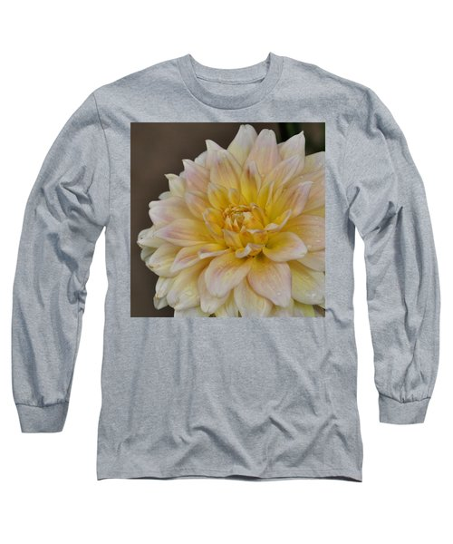 Peaches And Cream Dahlia Long Sleeve T-Shirt