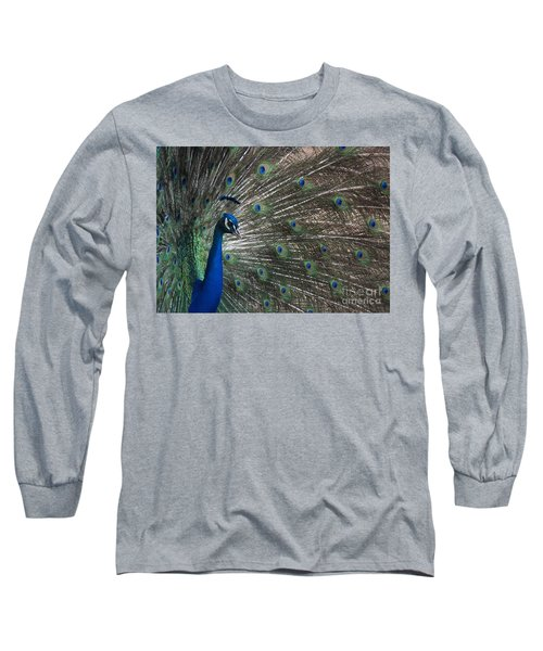 Long Sleeve T-Shirt featuring the photograph Peacock II by Lisa L Silva