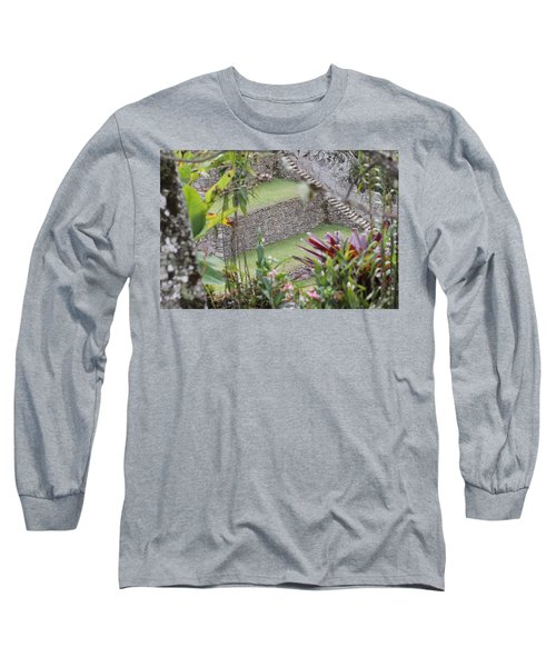 Peeking In At Machu Picchu Long Sleeve T-Shirt
