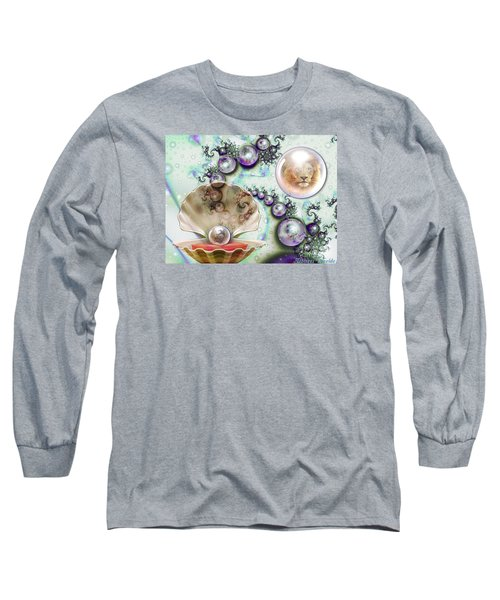 Long Sleeve T-Shirt featuring the digital art Pearl Of Great Price by Dolores Develde