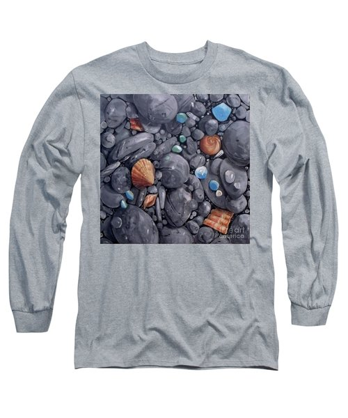 Pebble Soft Moments 1 Long Sleeve T-Shirt by Mary Hubley