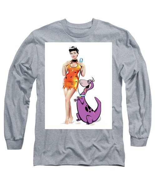 Pebbles N Dino Long Sleeve T-Shirt
