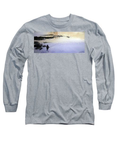 Long Sleeve T-Shirt featuring the painting Peche by Ed Heaton