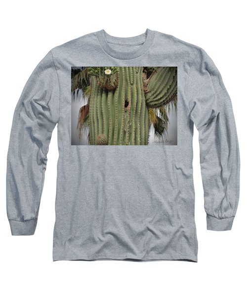 Peek-a-boo Cactus Wren Long Sleeve T-Shirt