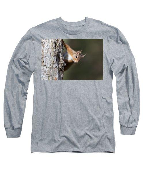 Peekaboo - Red Squirrel #29 Long Sleeve T-Shirt