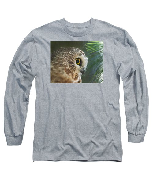 Peeking Out Long Sleeve T-Shirt by CR  Courson