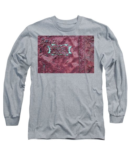 Long Sleeve T-Shirt featuring the photograph Peeling Door Abstract by Stuart Litoff