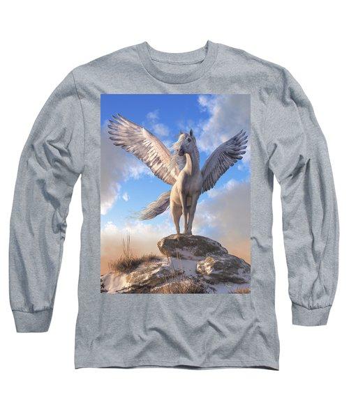 Pegasus The Winged Horse Long Sleeve T-Shirt