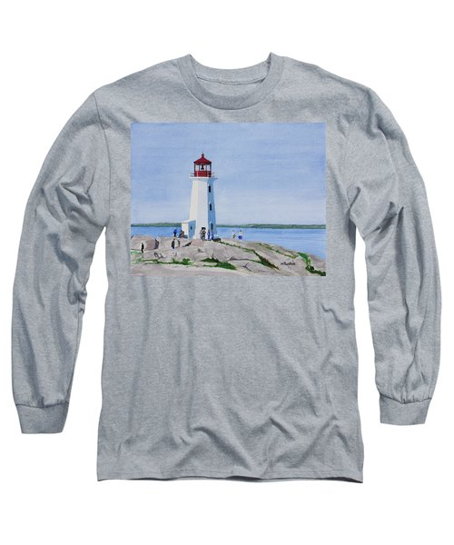 Peggy's Point Lighthouse Long Sleeve T-Shirt by Mike Robles