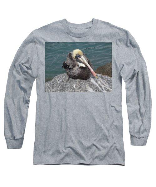 Long Sleeve T-Shirt featuring the photograph Pelican by John Mathews