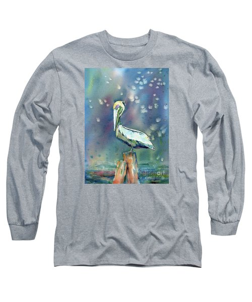 Pelican Long Sleeve T-Shirt by Mary Haley-Rocks