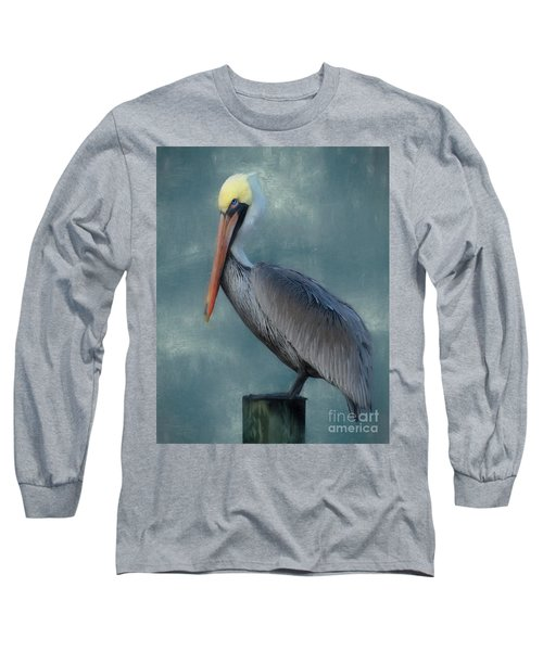 Long Sleeve T-Shirt featuring the photograph Pelican Portrait by Benanne Stiens