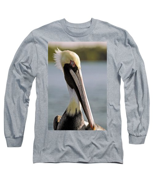 Long Sleeve T-Shirt featuring the photograph Pelican Portrait by Sally Weigand