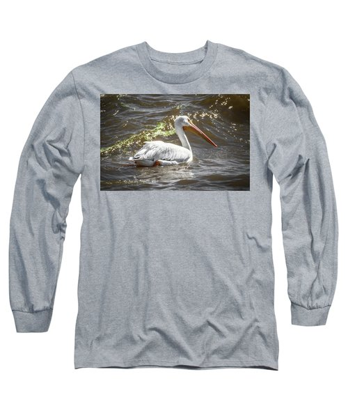 Pelican Profile Long Sleeve T-Shirt by Ray Congrove