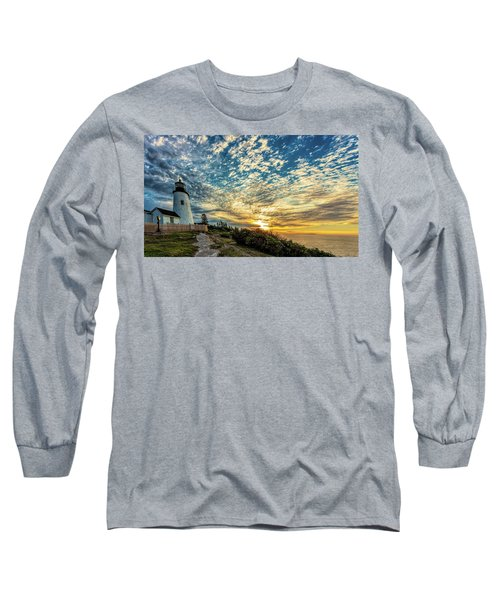 Pemaquid Point Lighthouse At Daybreak Long Sleeve T-Shirt