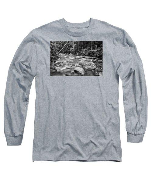 Pemi River Black-white Long Sleeve T-Shirt by Michael Hubley