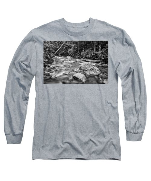 Pemi River Black-white Long Sleeve T-Shirt