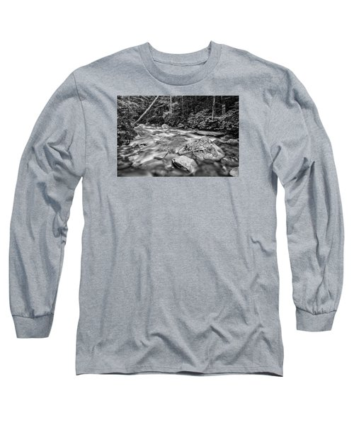 Pemi River Black-white Long Sleeve T-Shirt