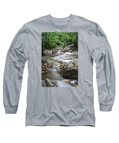 Pemigewasset River Nh Long Sleeve T-Shirt by Michael Hubley