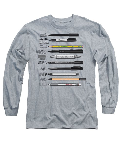 Pen Collection For Sketching And Drawing Long Sleeve T-Shirt