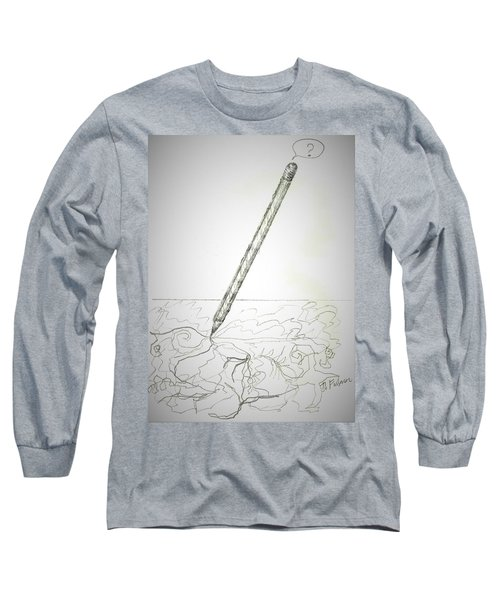 Long Sleeve T-Shirt featuring the drawing Pencil Drawing by Denise Fulmer