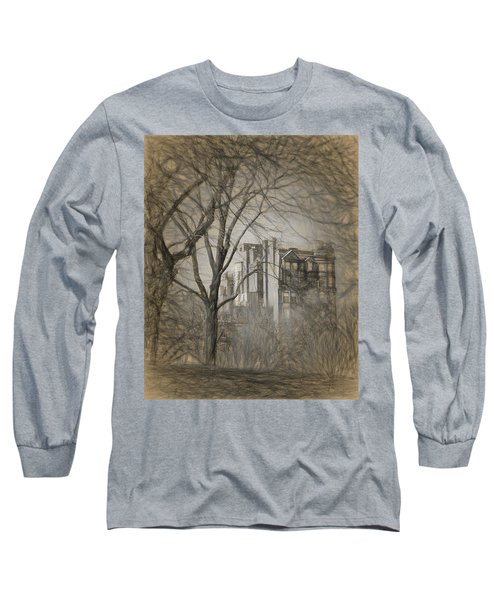 Pencil Sketch Of Beacon Hill Long Sleeve T-Shirt