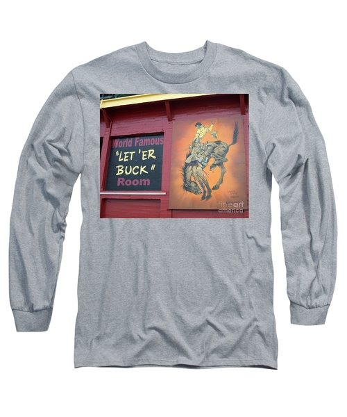 Pendleton Round Up Mural Long Sleeve T-Shirt by Chalet Roome-Rigdon