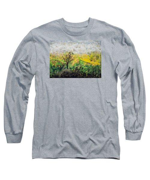Long Sleeve T-Shirt featuring the painting Peneplain by Ron Richard Baviello