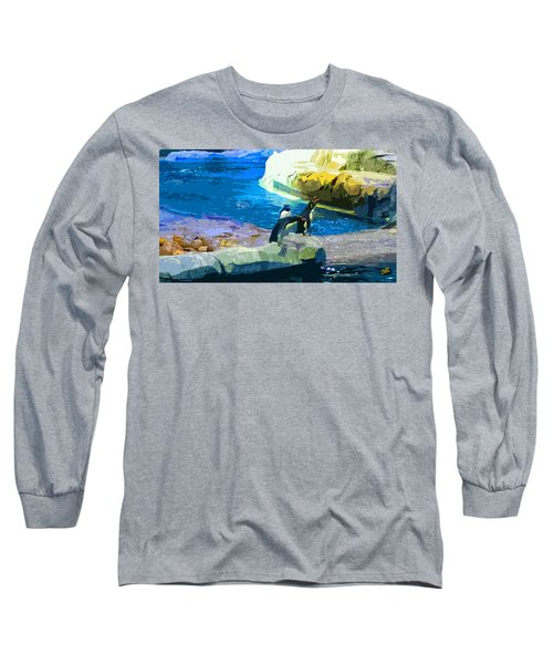 Penguins At The Zoo Long Sleeve T-Shirt