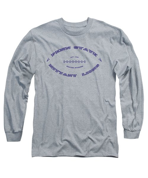 Penn State Nittany Lions Football Design With Transparent Background Long Sleeve T-Shirt