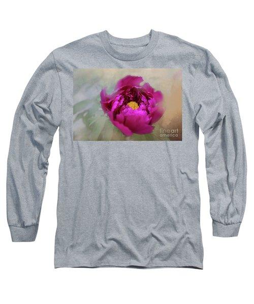 Peony Long Sleeve T-Shirt by Eva Lechner