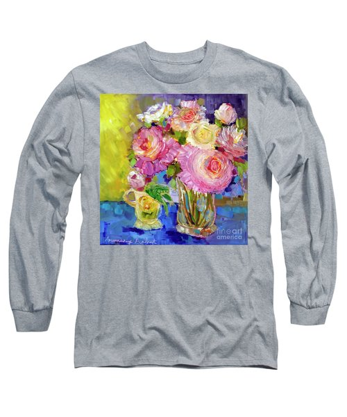 Peony Love Long Sleeve T-Shirt by Rosemary Aubut