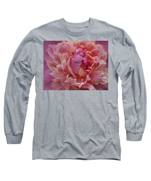 Peony Opening Long Sleeve T-Shirt by Sandy Keeton