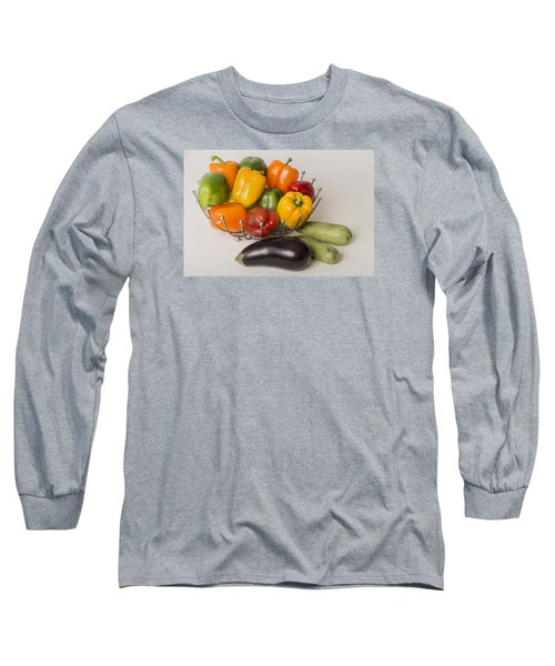 Long Sleeve T-Shirt featuring the photograph Pepper To Squash by Laura Pratt