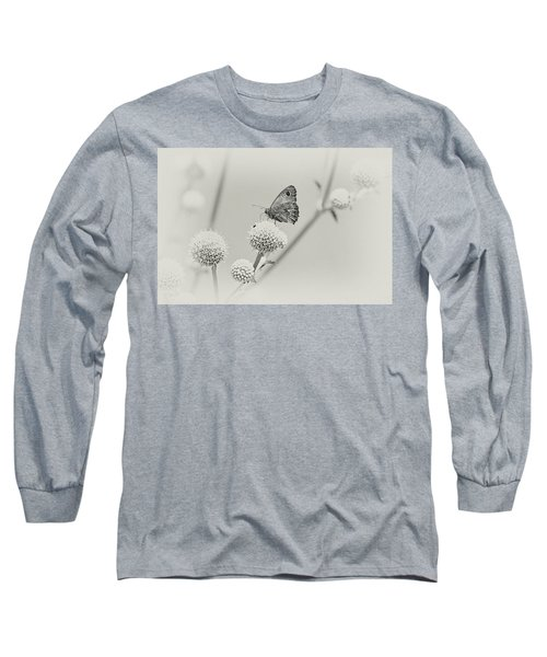 Perched Butterfly No. 255-2 Long Sleeve T-Shirt