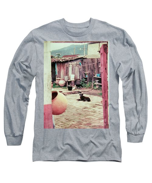Perro On The Patio Long Sleeve T-Shirt