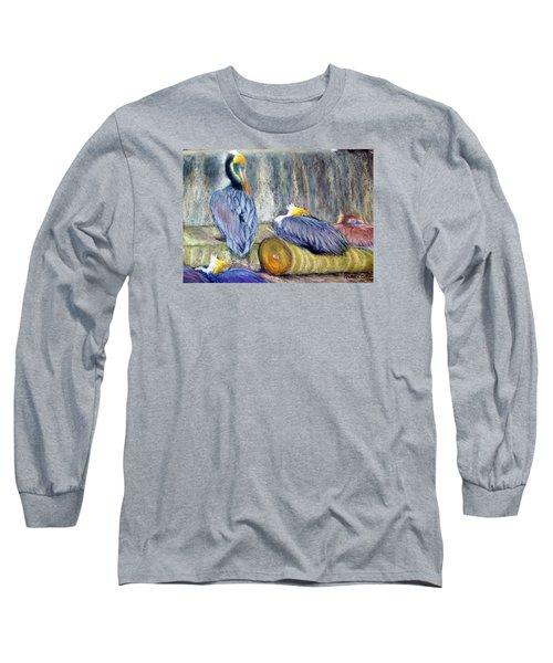 Peruvian Pelicans Three Pastel Long Sleeve T-Shirt