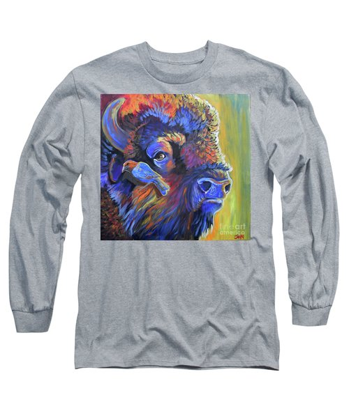 Long Sleeve T-Shirt featuring the painting Pesky Cowbird by Jenn Cunningham