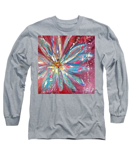 Petals Exploding Long Sleeve T-Shirt